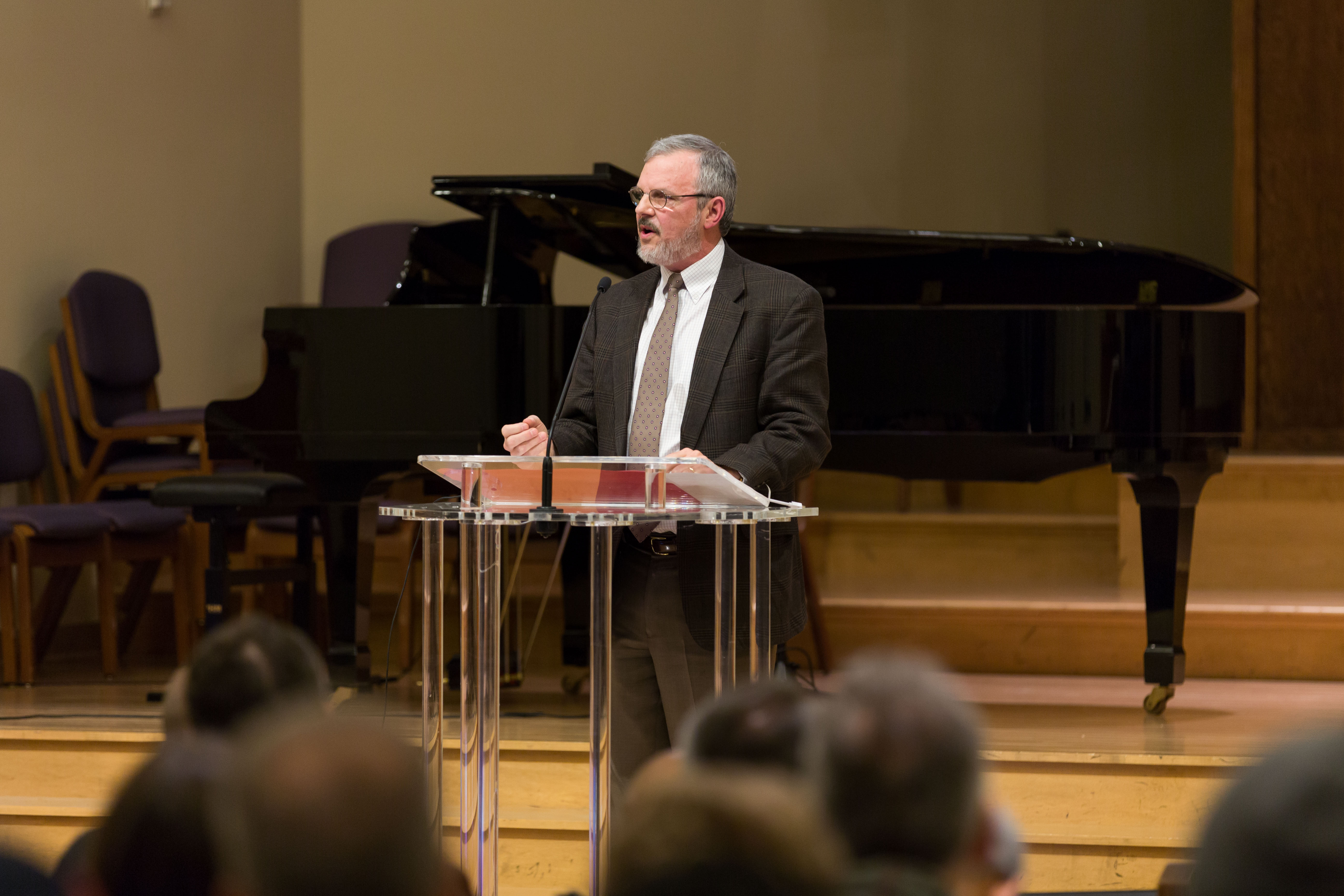 Kevin J. Vanhoozer, research professor of systematic theology at Trinity Evangelical Theological Seminary in Deerfield, Illinois, was the symposium's keynote speaker, photo credit: Shiekainah Decano