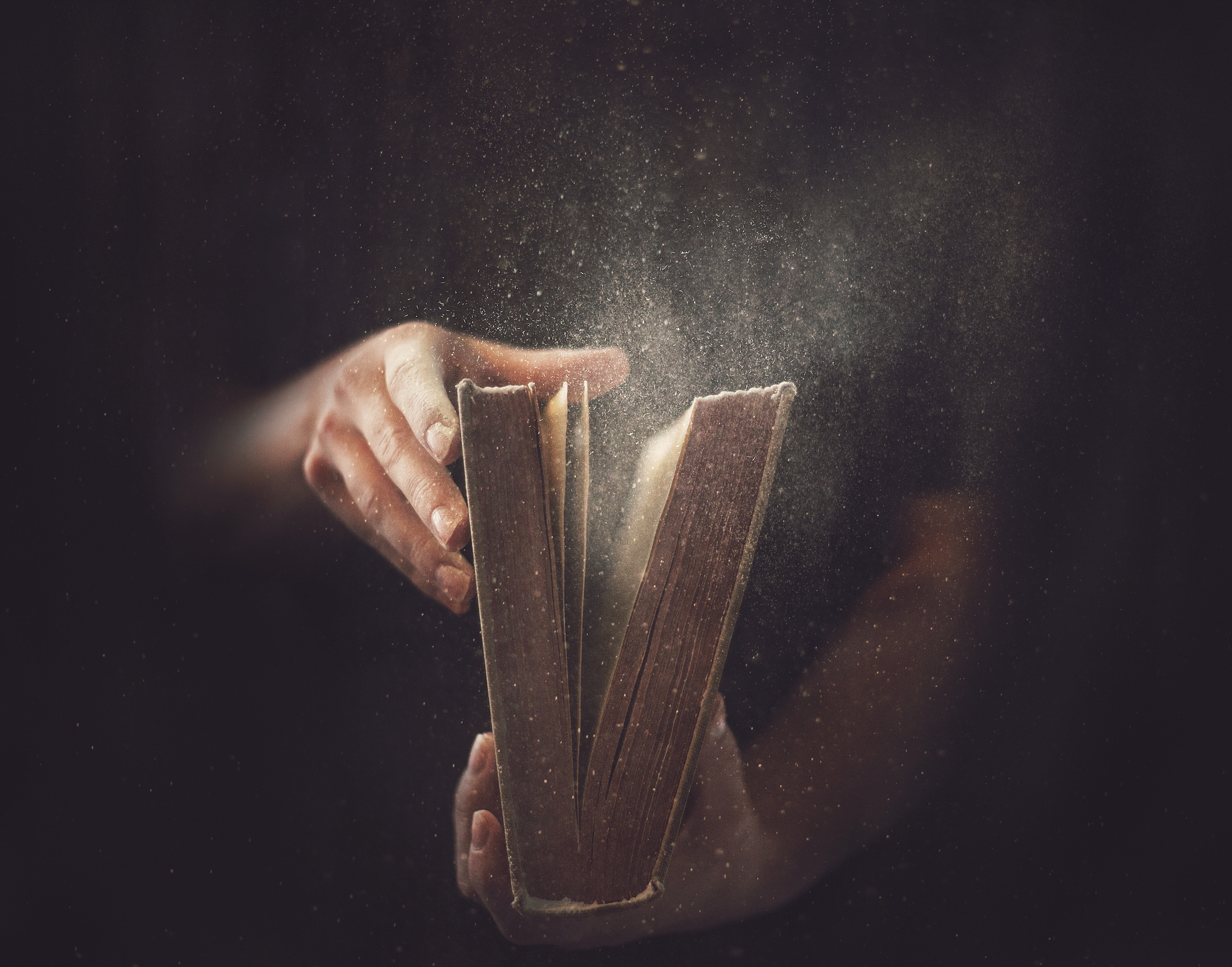 dusty Bible being opened