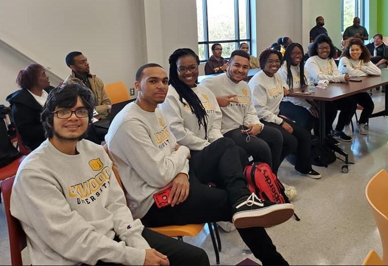 Oakwood's HCASC team and alternates include (left to right): Grayson Mejia, Jordan Seal, Miriam Duronville, Jonas Clarke, Danielle Honoré, Nirvana Walton, Khaliah Patton, and Crosby Lambert.
