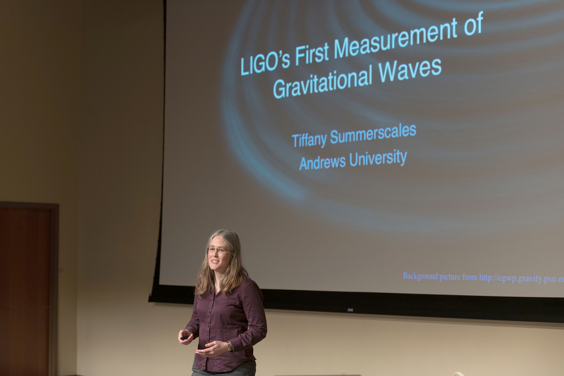Summerscales presenting on LIGO