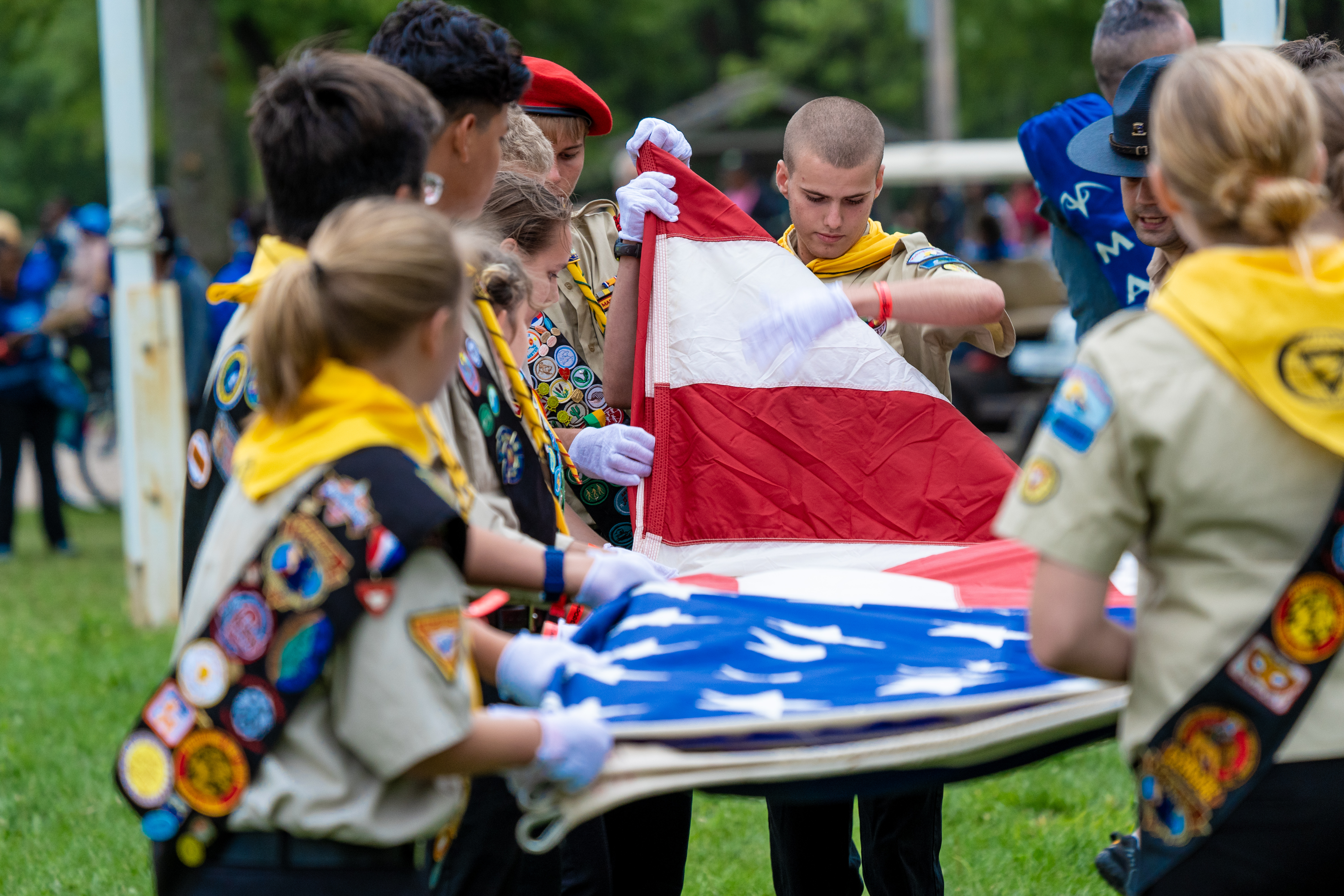 oshkosh 2019 Lowering of the US Flag on Day two of 2019 Oshkosh Camporee Terrence Bowen 48539430126_8f7f82af44_o.jpg