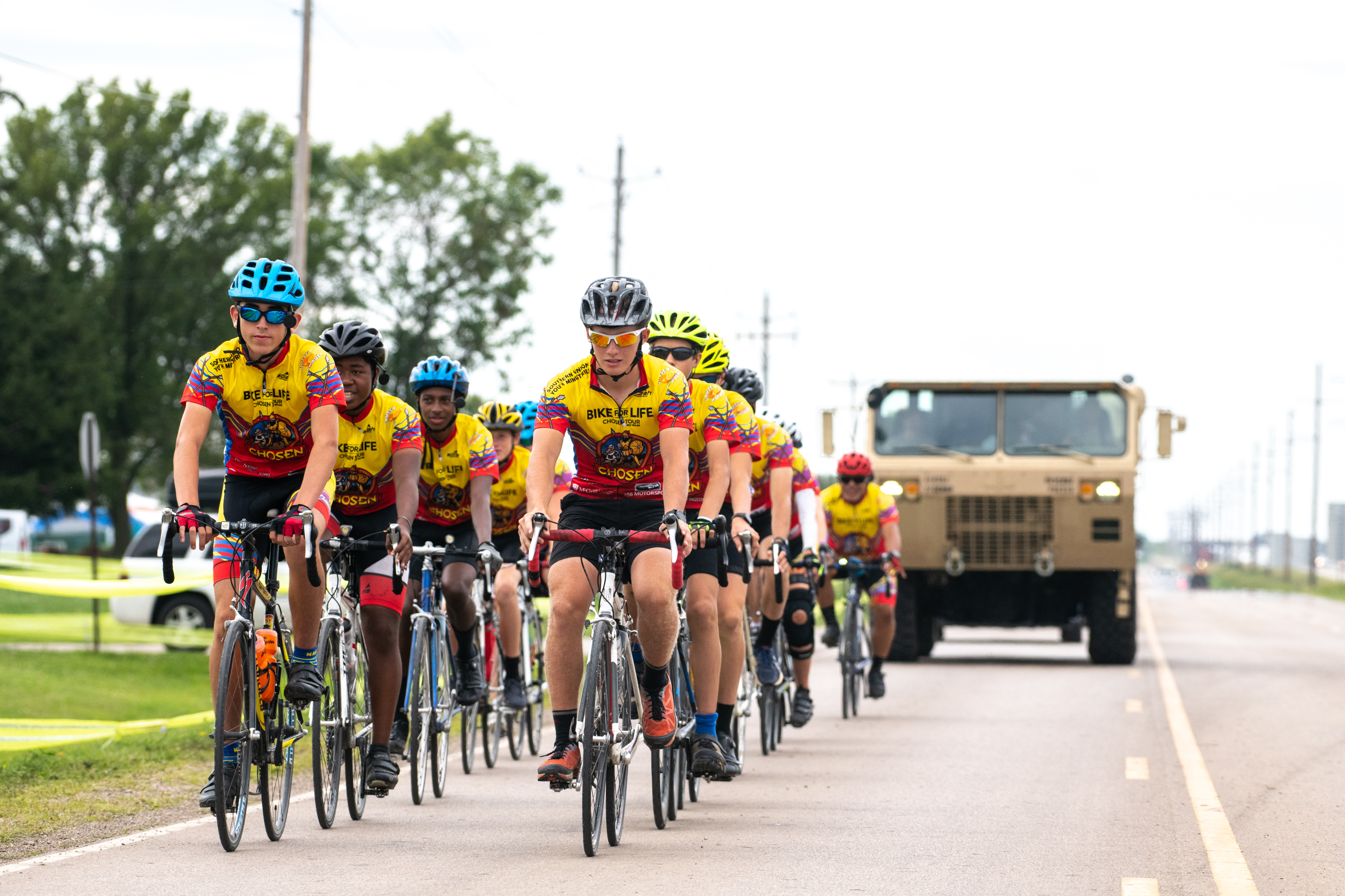Bike for Life riders arrive for the 2019 Oshkosh Camporee