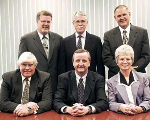 F. Martin Ytreberg (left, first row in this 2004 photo), former vice president and CFO of Pacific Press Publishing Association, passed peacefully to his rest after a lengthy illness on Tuesday evening,Aug.20, 2019, in Boise, Idaho.